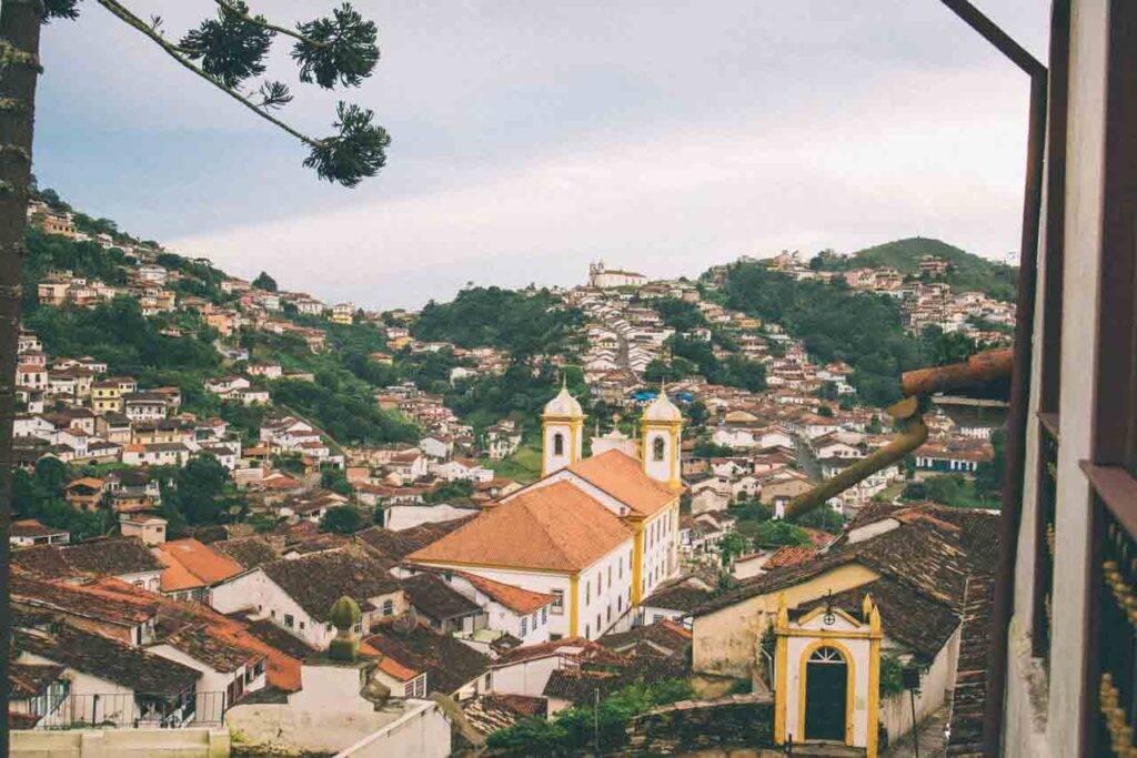 Cidade de Ouro Preto, em Minas Gerais. Cidades charmosas para visitar no Brasil