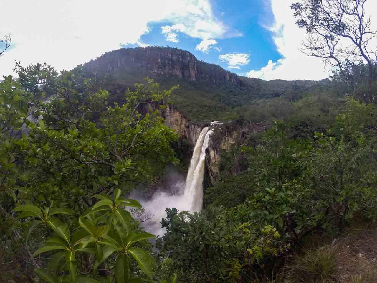 Cachoeira maravilhosa na Chapada dos Veadeiros.