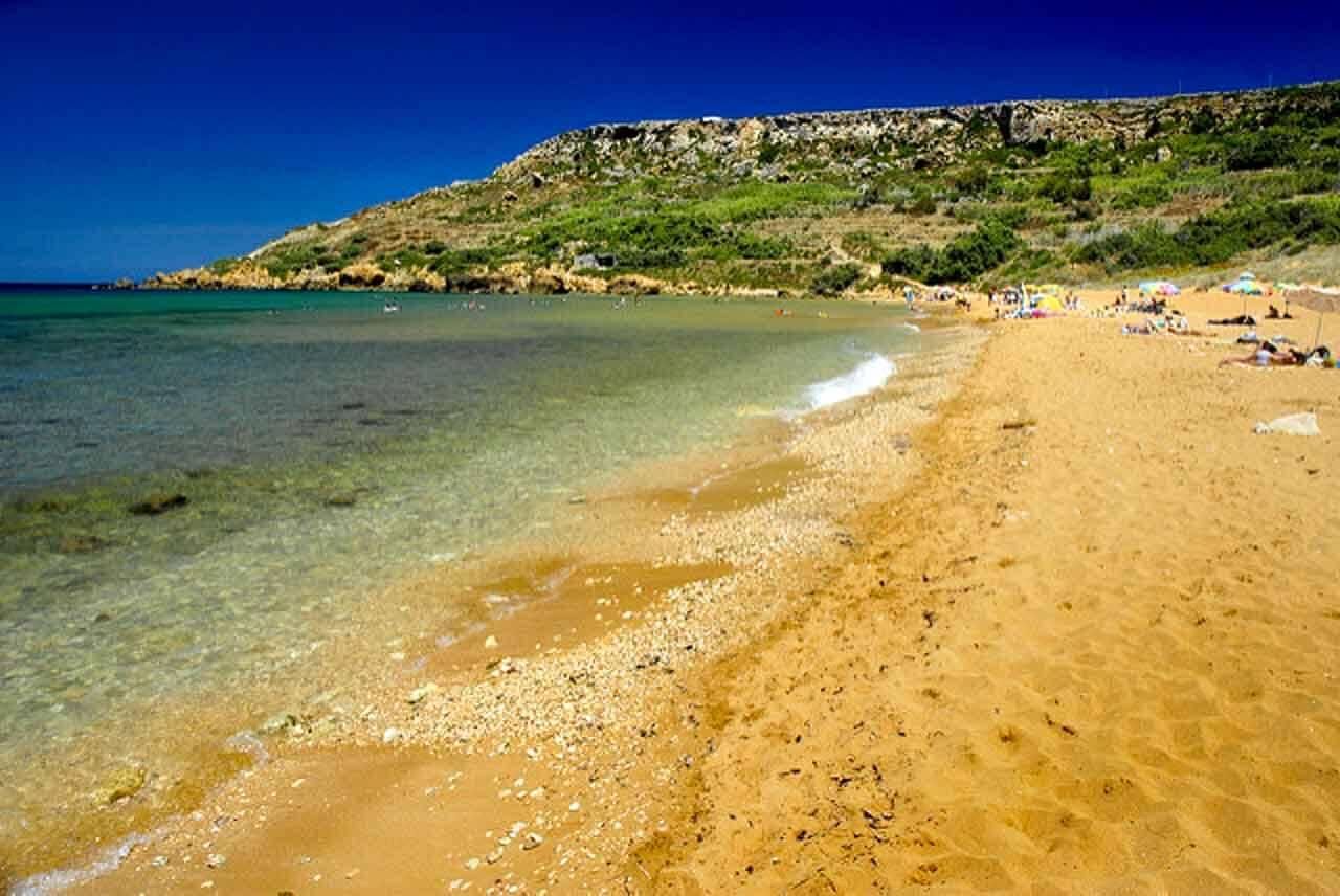 Ramla Bay em Malta na Europa.