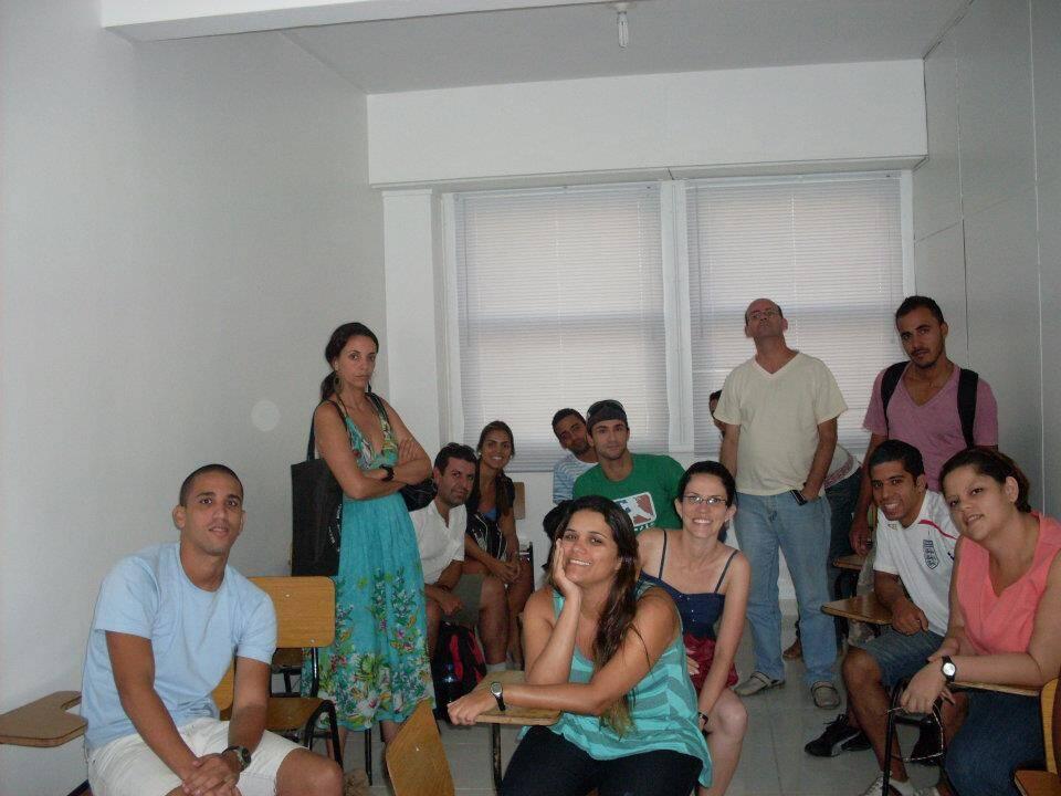Na sala de aula durante o curso STCW no Rio de Janeiro.