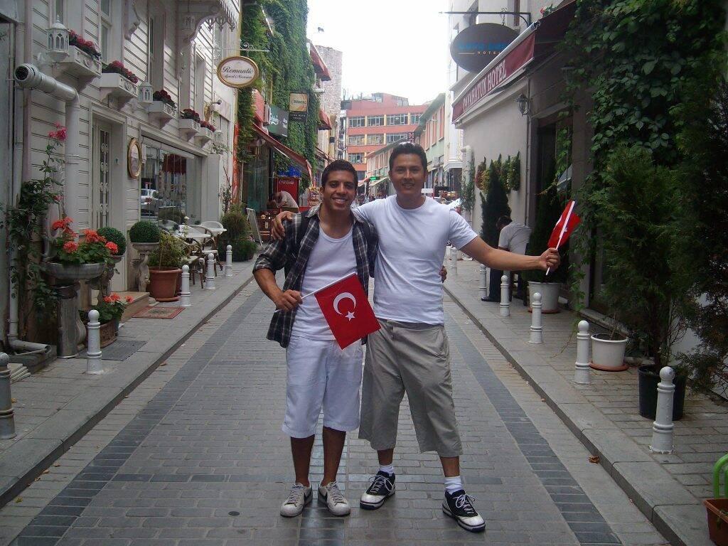 Christian, amigo peruano que já conhecia Istambul