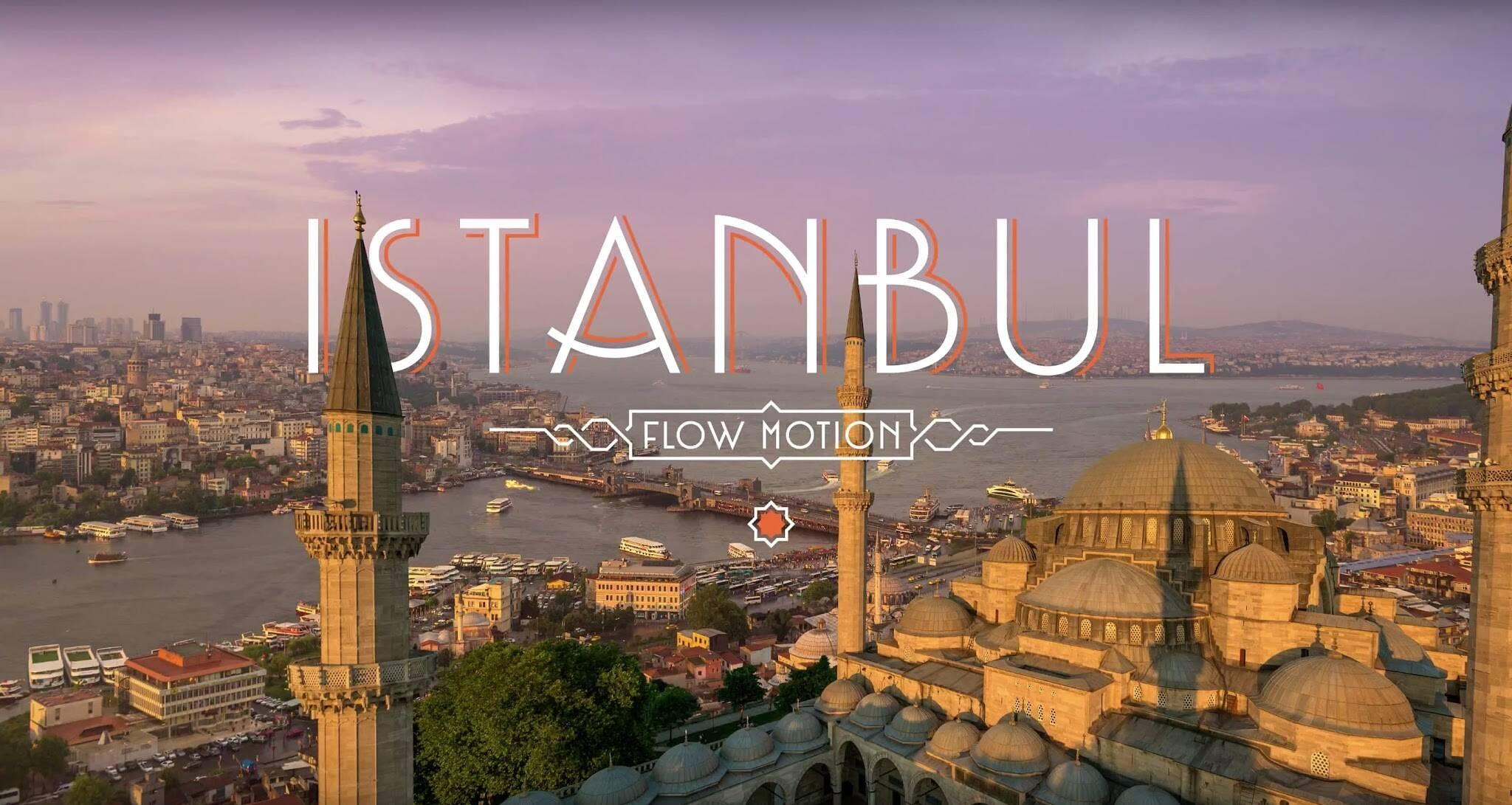 Flow Motion incrível em 4K da cidade de Istambul, na Turquia