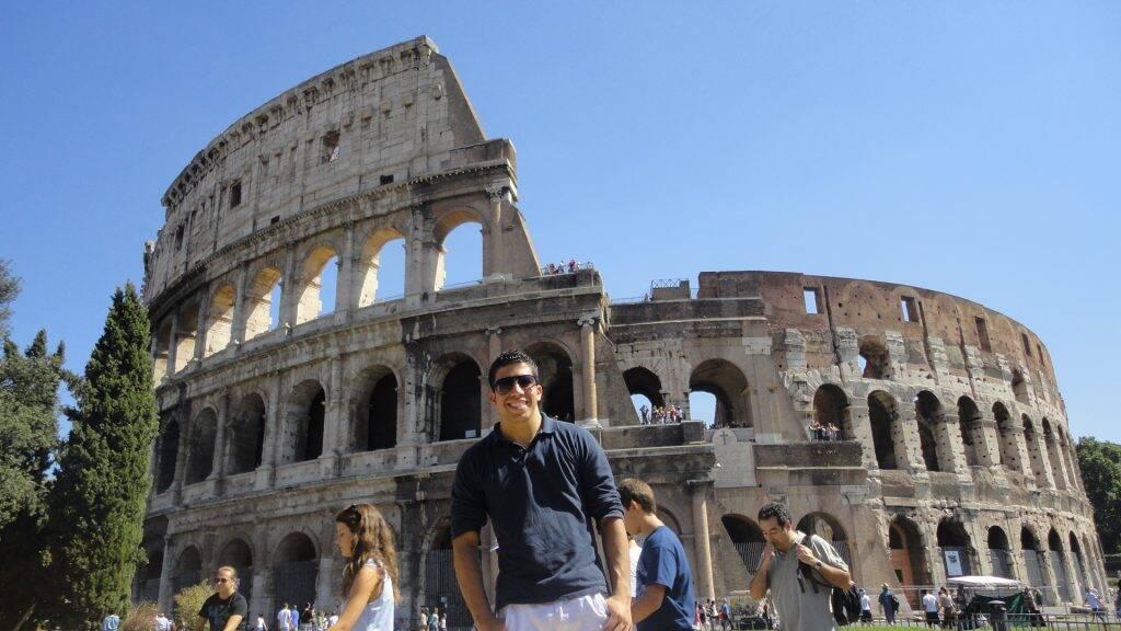 O Coliseu de Roma, na Itália.