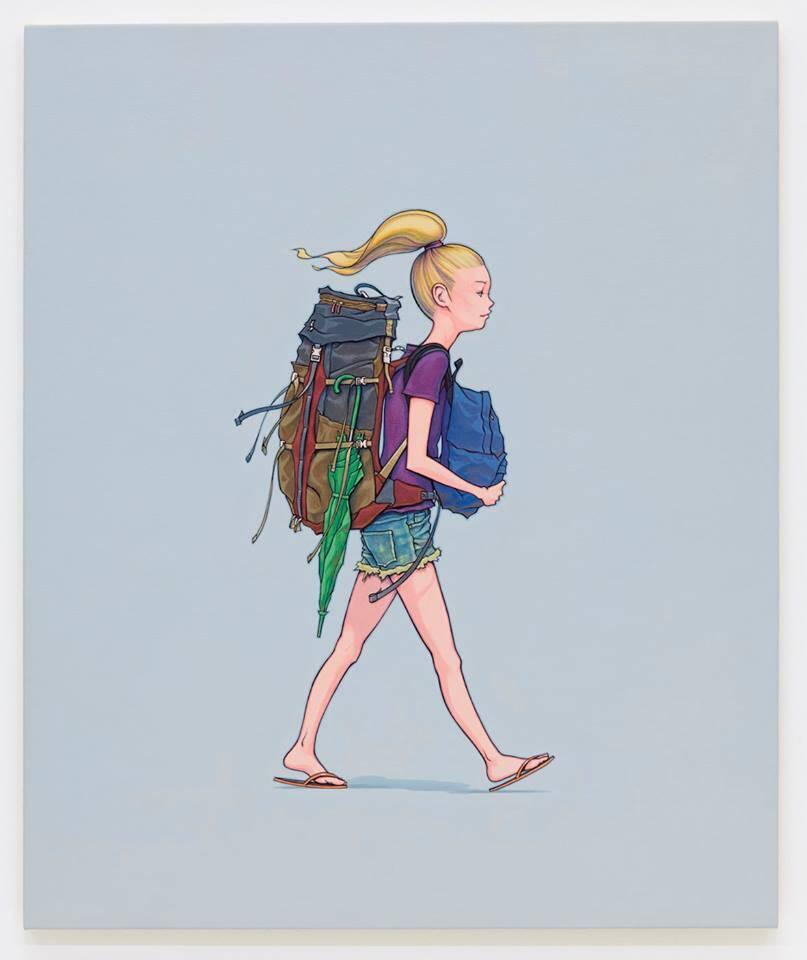 Pinturas que retratam mochileiros