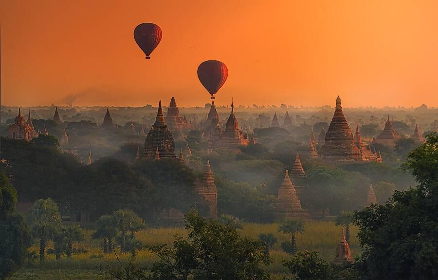 Templos de Bagan, Myanmar (Burma) | Foto: Charungroj Bunphabuth