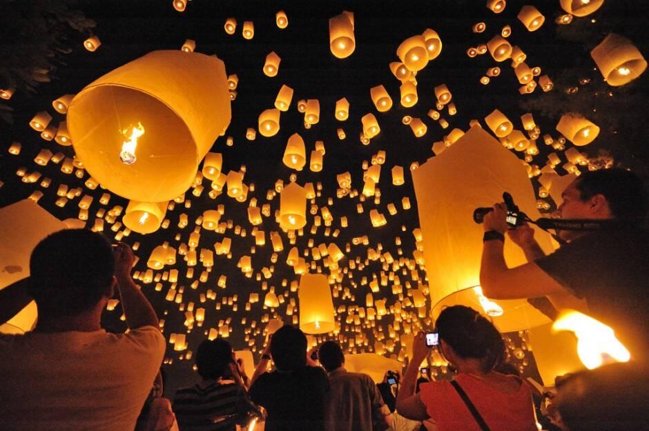 Festival das Lanternas em Chiang Mai, Tailândia: um show de luzes e tradição