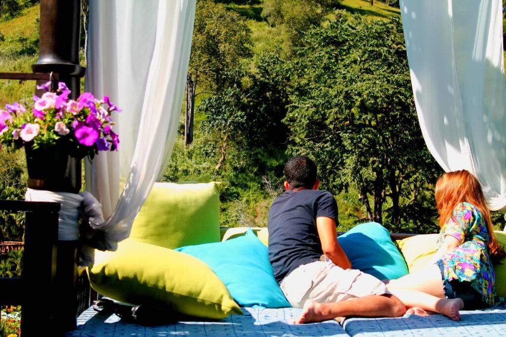Em umas das áreas de lazer do Panviman Spa Resort | Foto: Bruno/@naproadavida - onde ficar em Chiang Mai