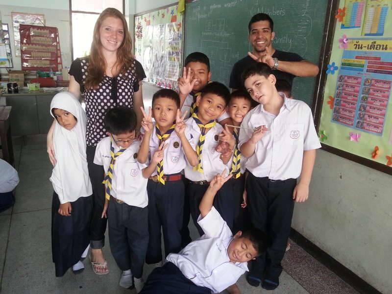 Nossos alunos da escola muçulmana em Bangkok - três meses viajando