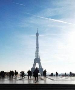 Viagem para Paris, na França.