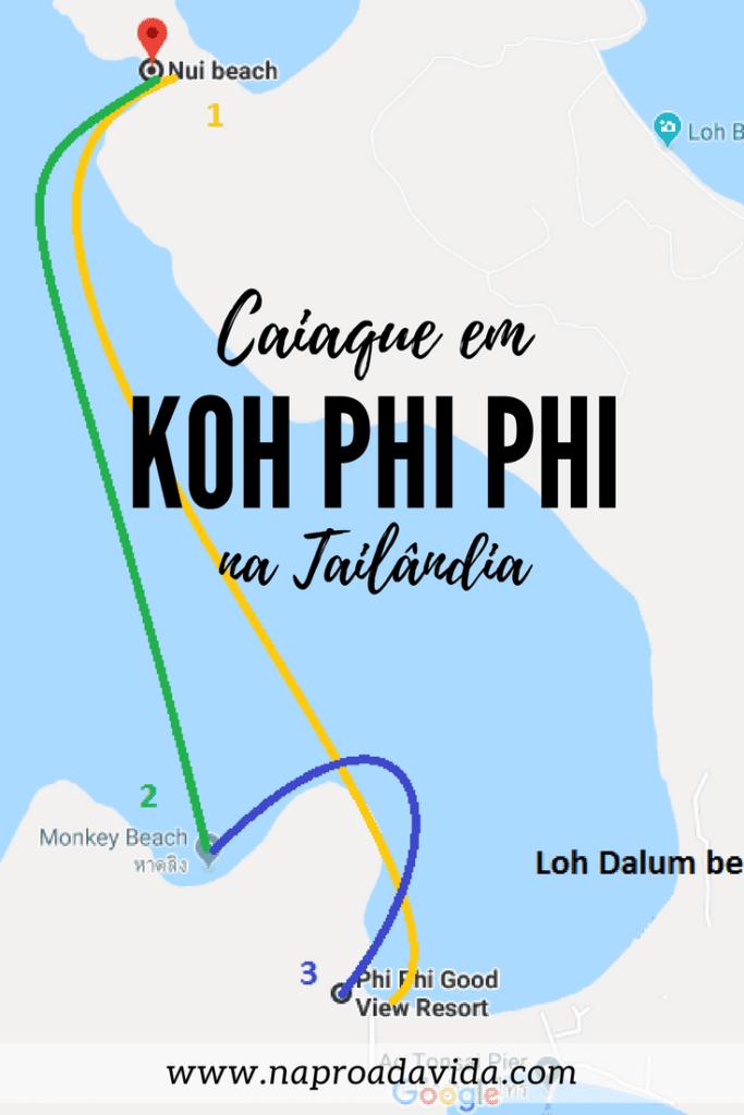 Um dia de caiaque em Koh Phi Phi, na Tailândia