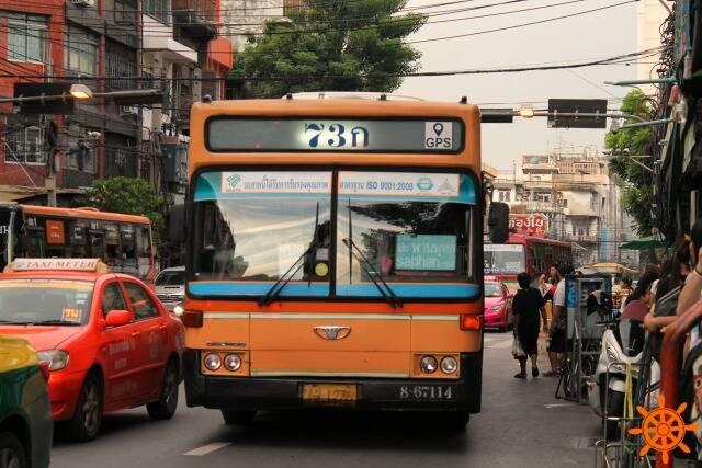 Ônibus público em Chinatown, Bangkok - Uber em Bangkok