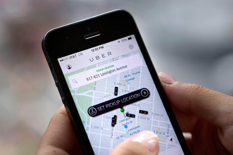 Tela de solicitação do App | Foto: Bloomberg/Victor J. Blue - Uber em Bangkok