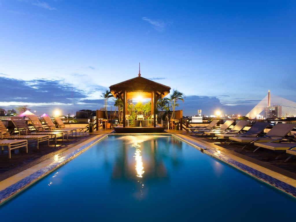 Hotel luxuoso e com piscina em Bangkok