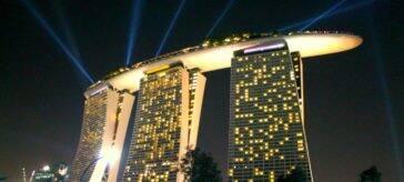 Marina Bay Sands by night - Onde ficar em Singapura