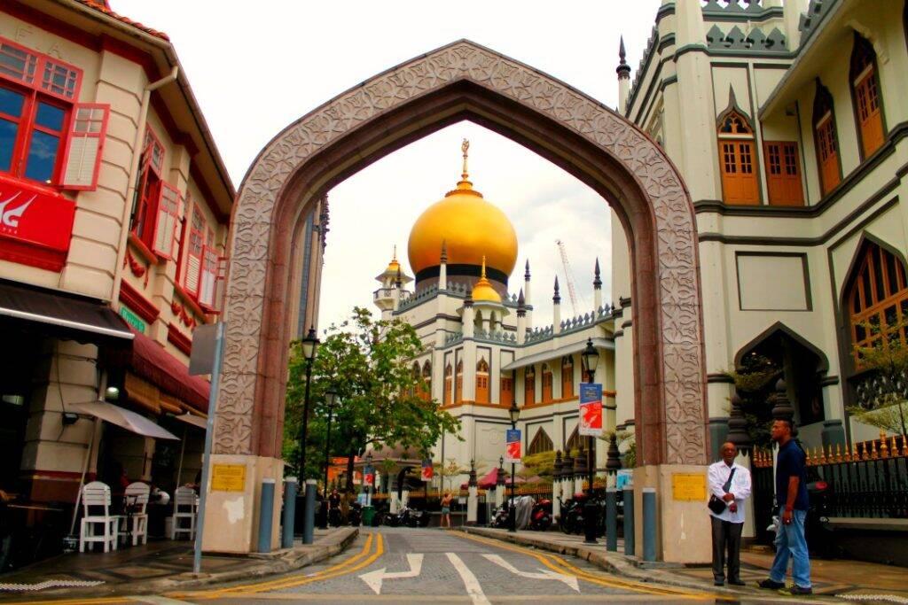 Masjid Sultan, no centro do bairro árabe. Onde ficar em Singapura