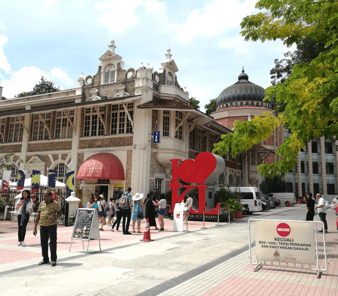 """Kuala Lumpur City Gallery com o letreiro famoso de """"I LOVE KL"""""""