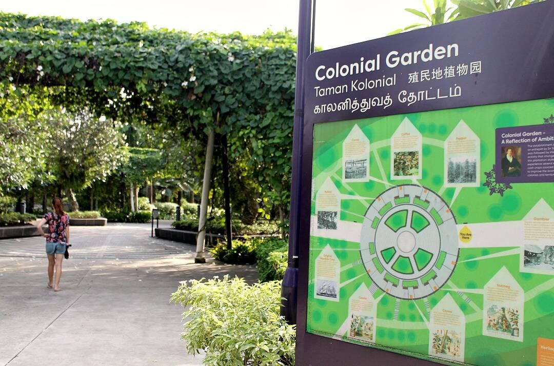 Jardim Colonial em Singapura