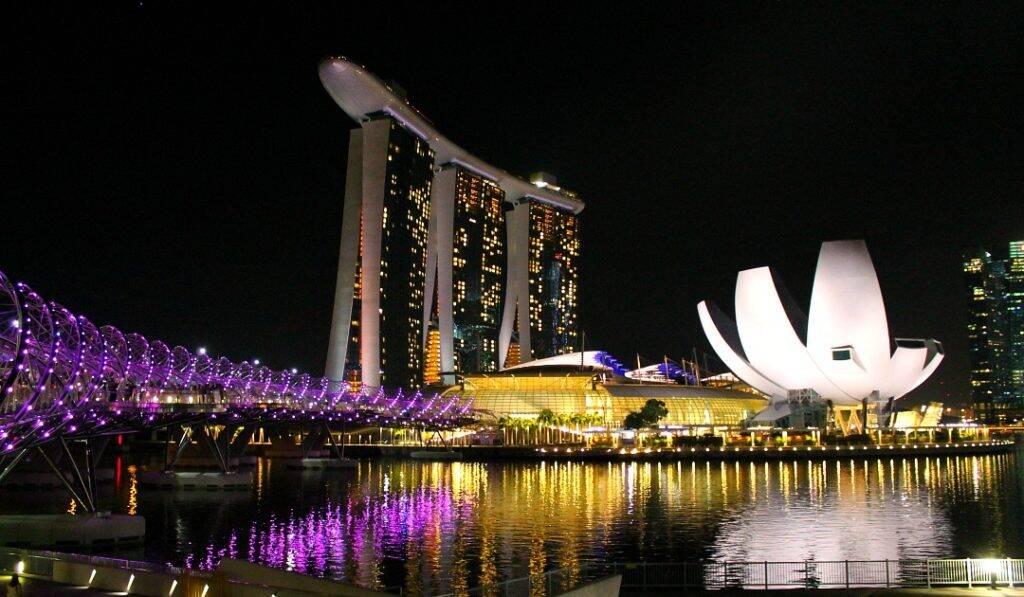 Vista panorâmica da Marina Bay - Singapura