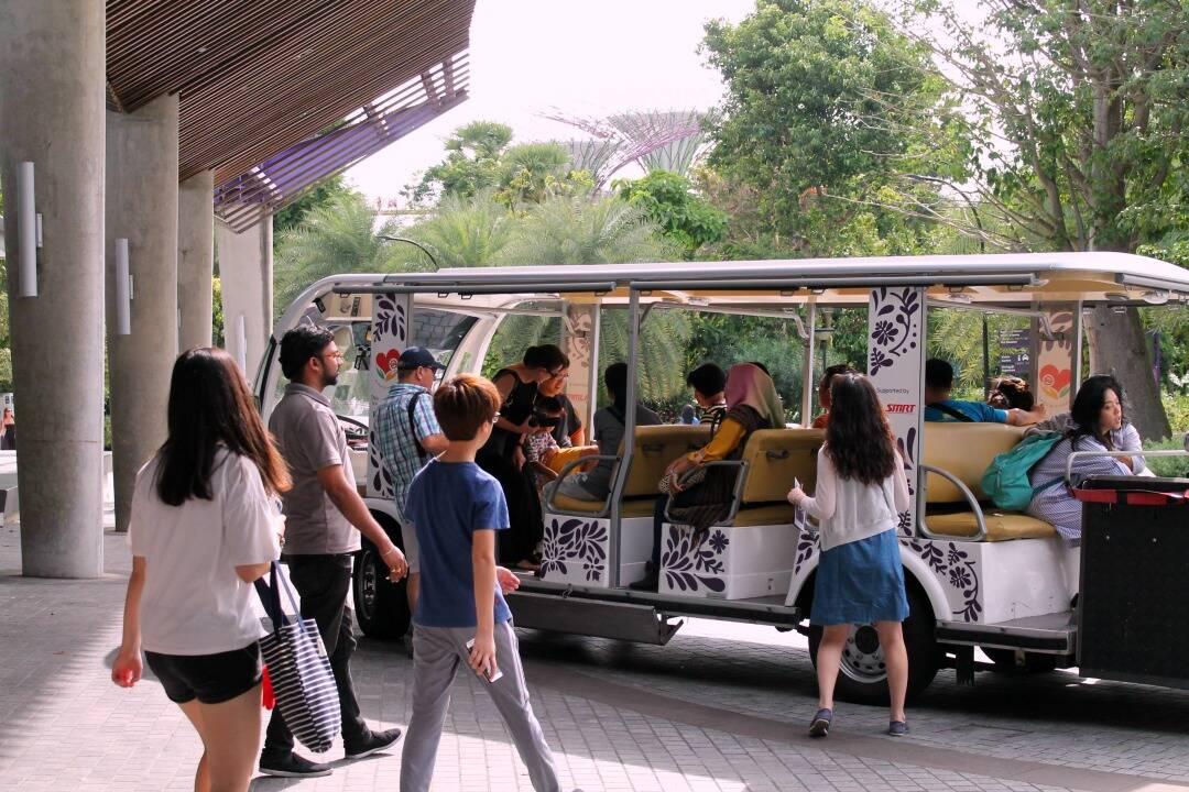 Transporte para circular no parque