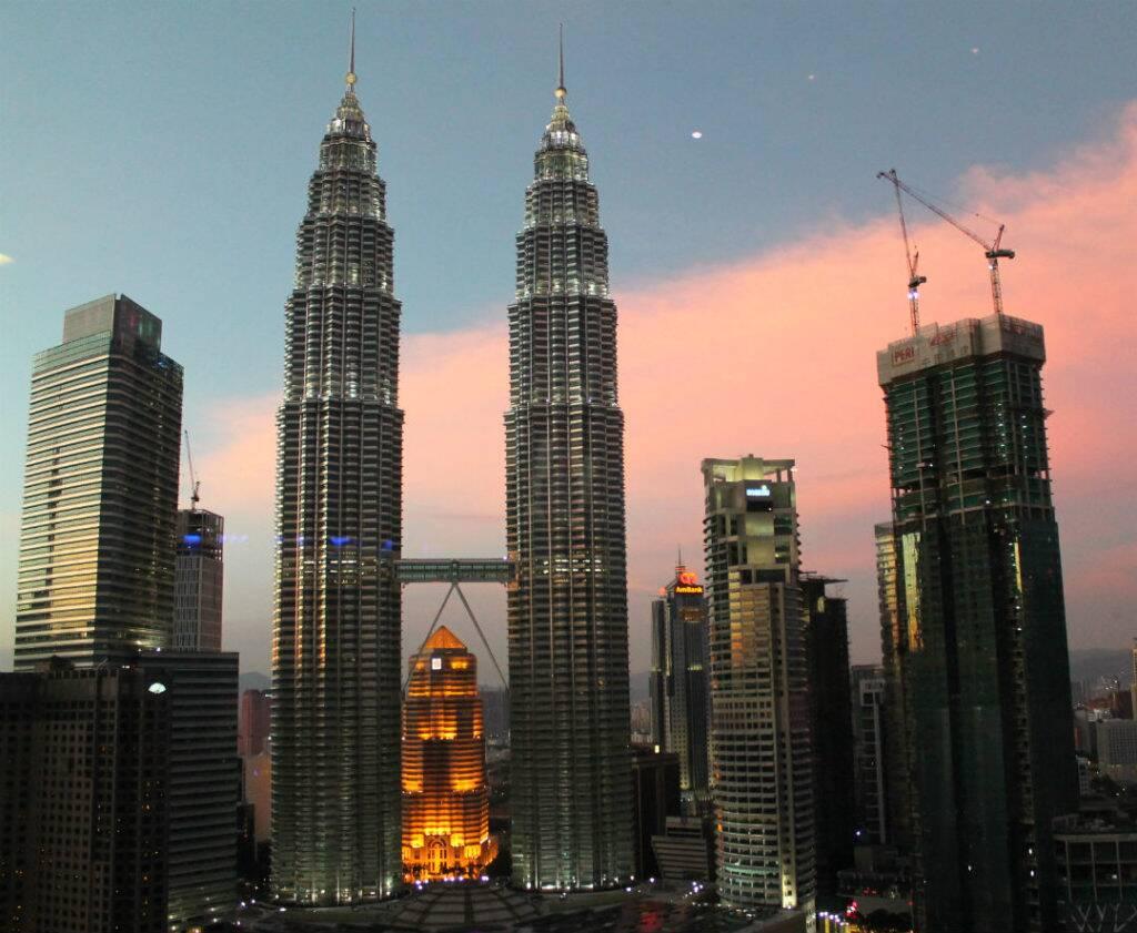 Vista para as Petronas, desde o Traders Hotel - onde ficar em Kuala Lumpur