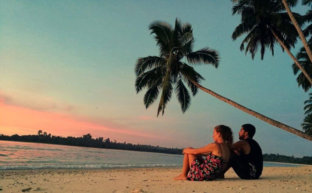 Pôr do sol nas Ilhas Mentawai - dez imagens