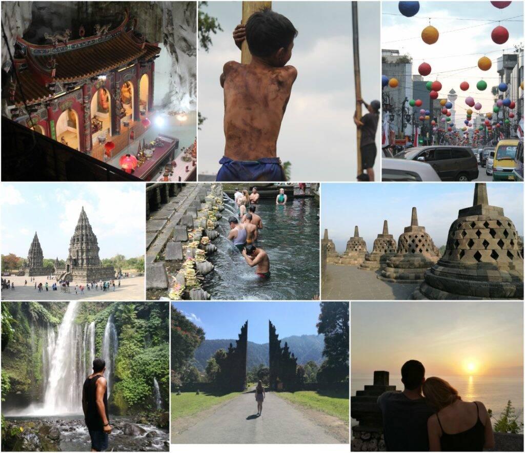 Mês onze Indonésia e Malásia collage - Viagem pela Ásia
