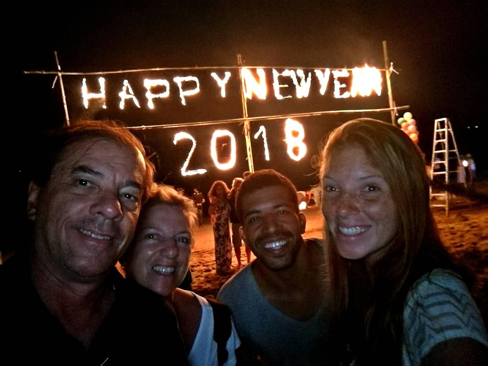 Ano novo em Koh Lanta, na Tailândia