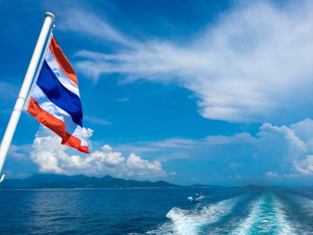 Ferry para chegar em Koh Tao.