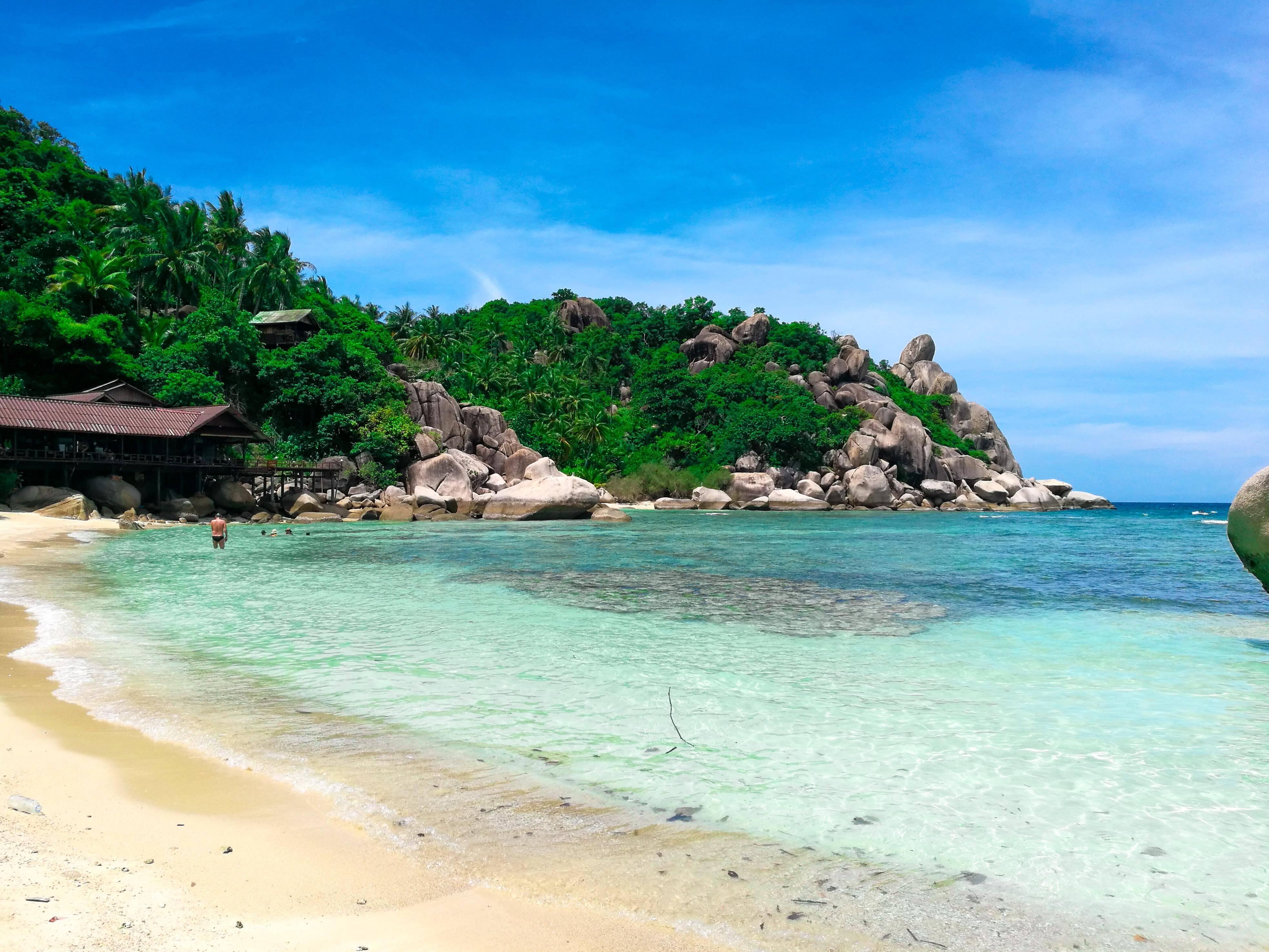 Koh-Tao Águas claras e bem quentes da Freedom Beach