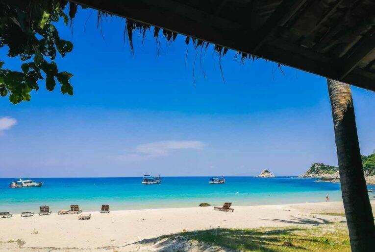 Praia apaixonante de Koh Tao, Tailândia. Cidades da Tailândia.