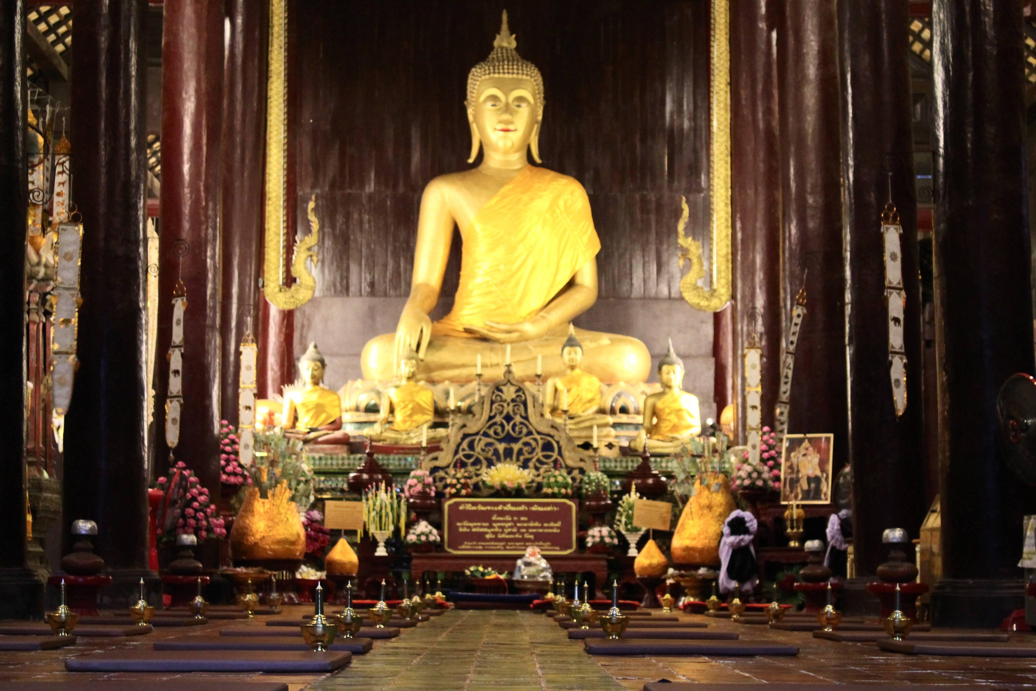 Templo da Tailândia em Chiang Mai. Cidades da Tailândia