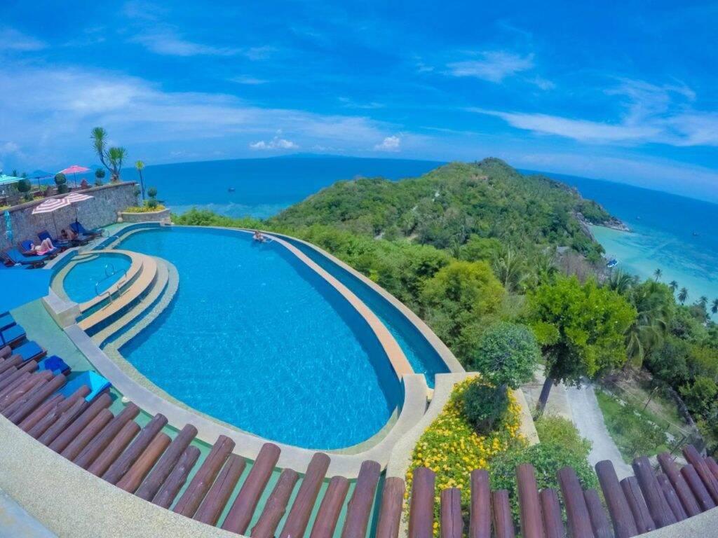Piscina do Ko Tao Resort em Chalok Bay - onde ficar em Koh Tao