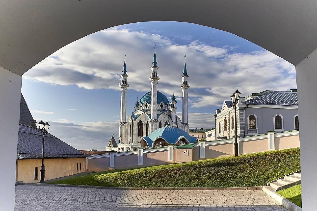 Mesquita Kul Sharif, um dos símbolos de Kazan - cidades da Rússia