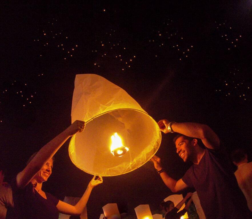 Festival das Lanternas em Chiang Mai na Tailândia