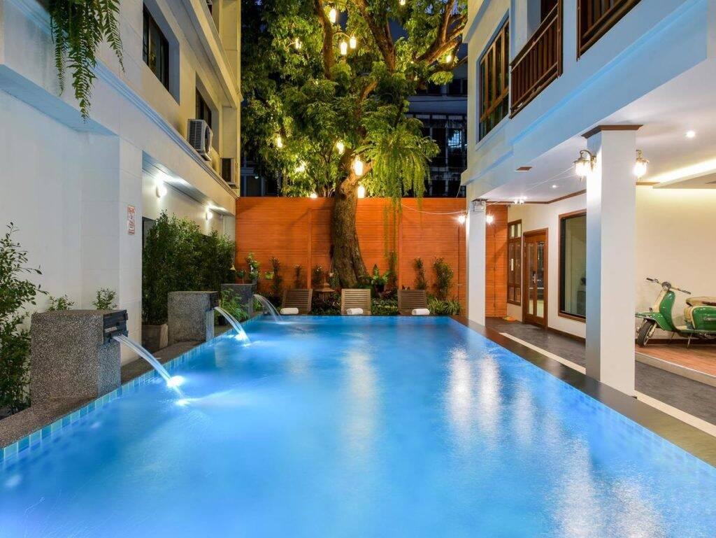 Piscina do Lanna Tree Boutique Hotel - onde ficar em Chiang Mai