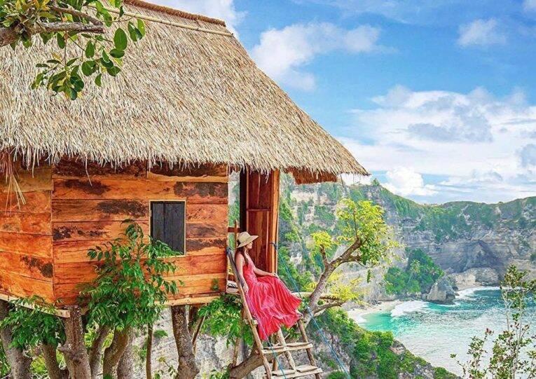 A maravilhosa vista do Rumah Pohon Tree House, em Nusa Penida.