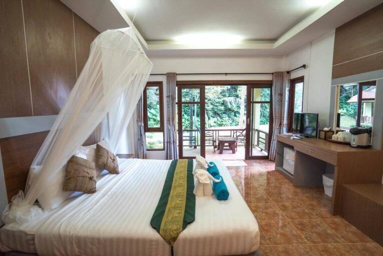 Suíte do Tonsai Bay Resort em Tonsai Beach, Krabi - Foto: divulgação