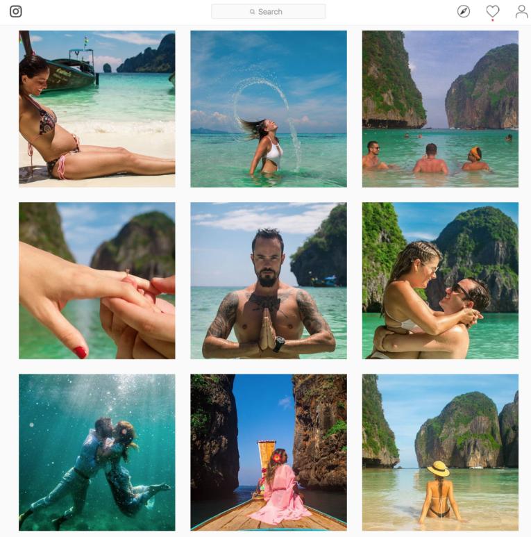 Instagram de fotógrafo brasileiro na Tailândia - Koh Phi Phi