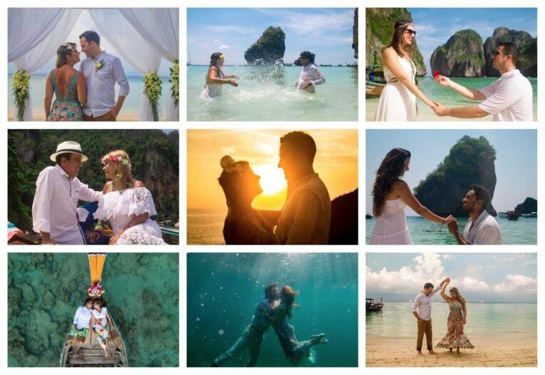 Fotos de lua de mel ou casamentos nas ilhas Phi Phi - fotógrafo brasileiro na Tailândia