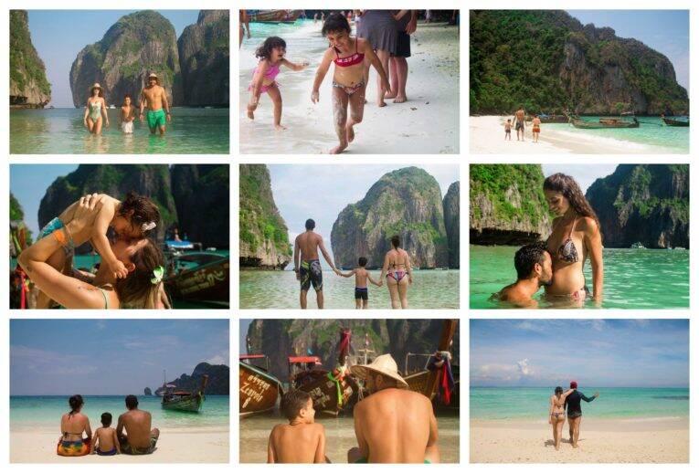 Fotos de férias em família nas Ilhas Phi Phi - fotógrafo brasileiro na Tailândia