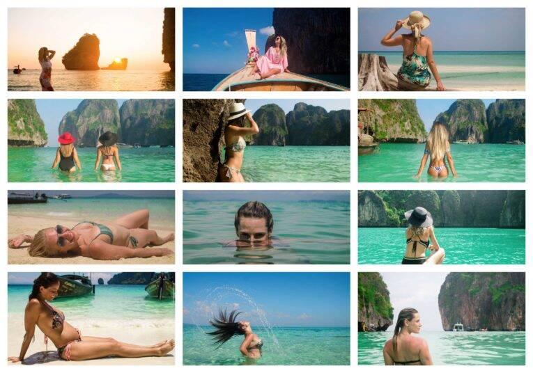 Fotos de mulheres curtindo as praias das Ilhas Phi Phi - fotógrafo brasileiro na Tailândia