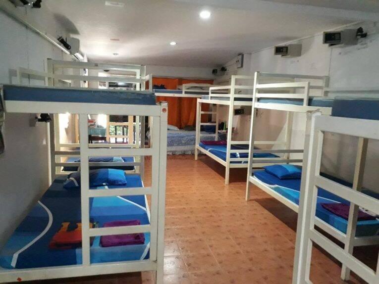 Quarto compartilhado do Hangover Hostel em Phi Phi   Foto: divulgação.