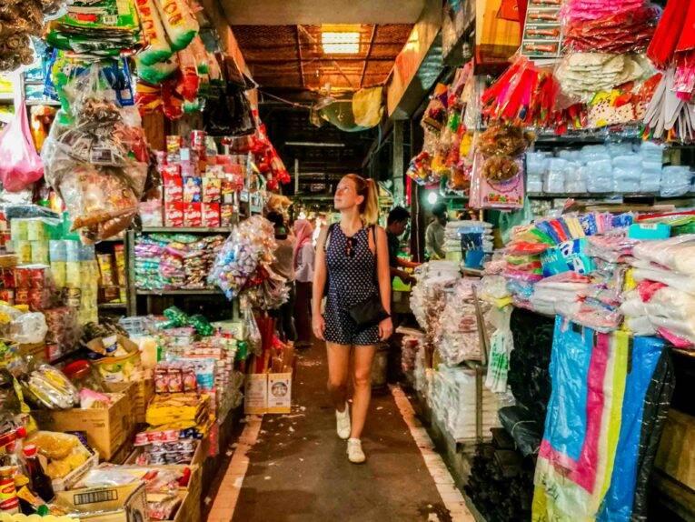 Mercado em Siem Reap no Camboja.