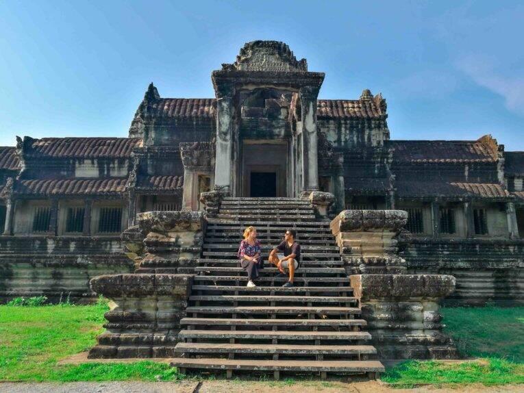 Nos arredores de Angkor Wat no Camboja