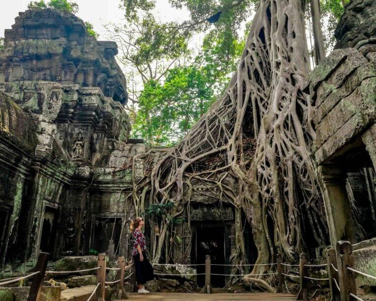 Siem Reap dicas de viagem pelo Camboja (Ta Prohm, templo famoso no Camboja)