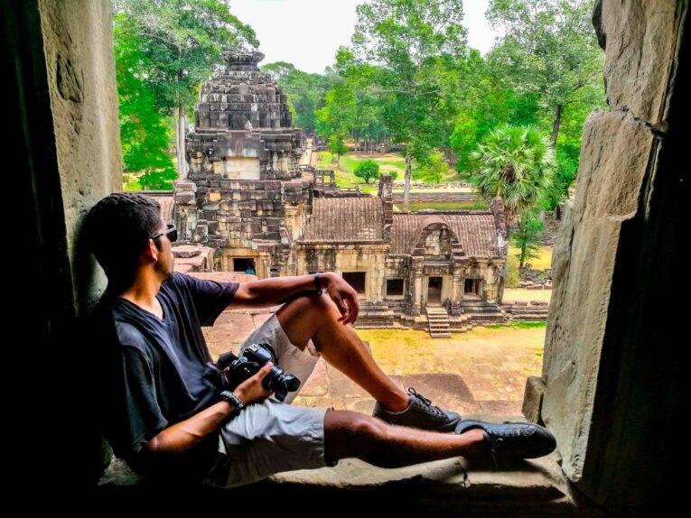 Siem Reap dicas de viagem pelo Camboja (Templo Bayon)