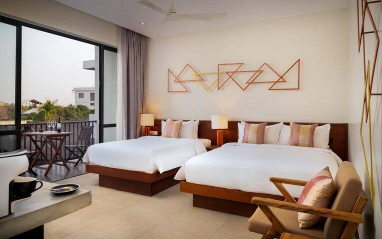 Suite do Gold Smith Residence em Wat Bo Road, Siem Reap   Foto: divulgação/booking.com - onde ficar em siem reap