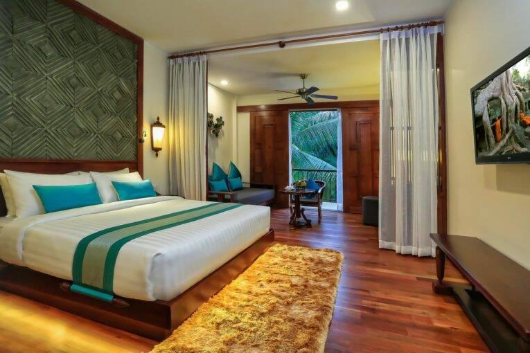 Suíte do luxuoso The Privilege Floor @Lotus Blanc em Siem Reap   Foto: divulgação/booking.com - onde ficar em siem reap