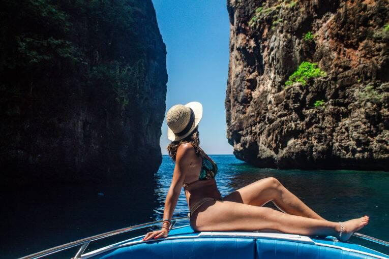 Lugares secretos de Koh Phi Phi - Tailândia. Passeio de barco em Phi Phi