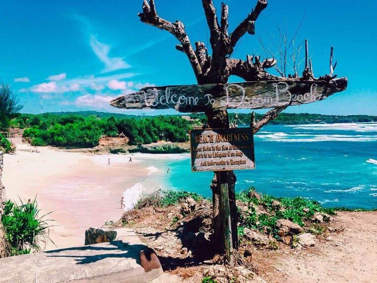 Chegada na famosa Dream Beach - Nusa Lembongan